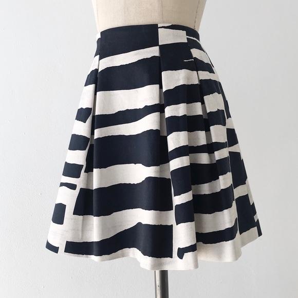 b2e581fc2 Alice + Olivia Skirts | Alice Olivia Striped Cotton Pleated Mini ...